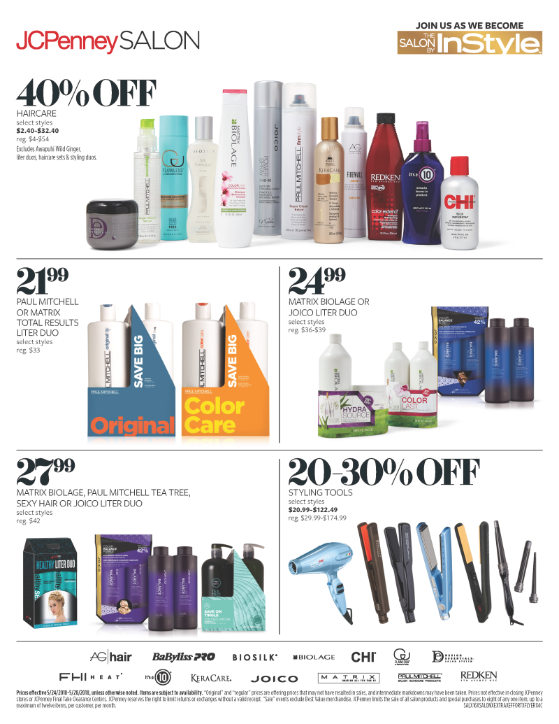 Haircare specials at The SALON BY InStyle from JCPenney