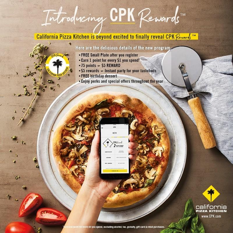 Introducing CPK Rewards™ at California Pizza Kitchen | Fashion Show