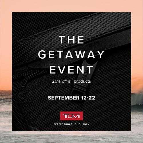 Save 20% off all products from TUMI
