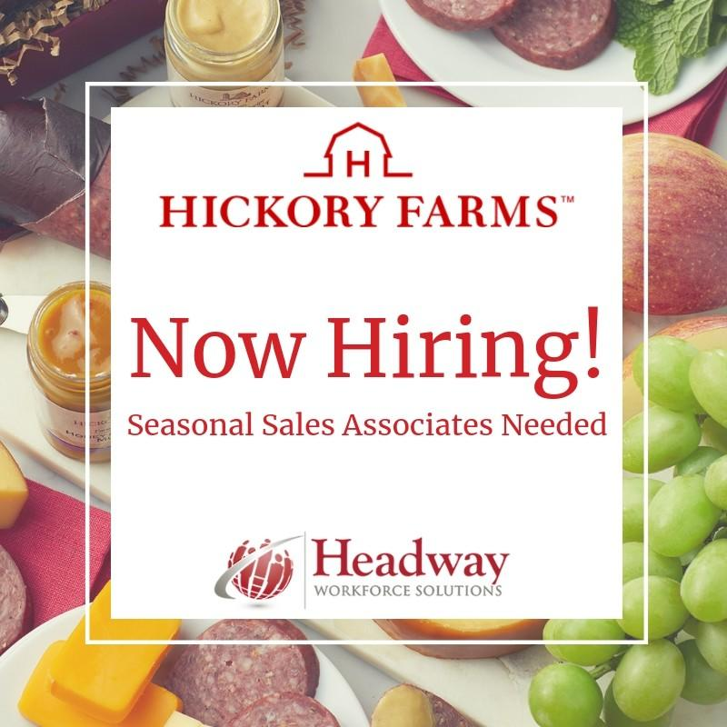 Hickory Farms Seasonal Employment Opportunities