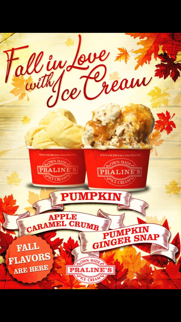 New Fall Flavors from Praline's