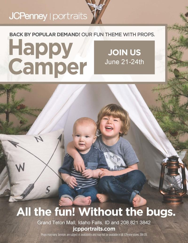 Hamper Camper Portraits at JCPenney Portrait Studio