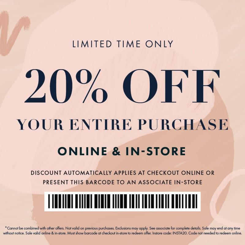 20% Off at Bohme from Bohme Boutique