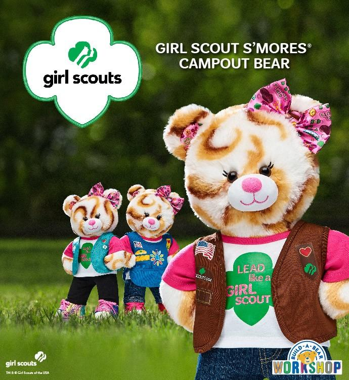 Arriving March 8th is the Girl Scout Bear at Build-A-Bear! from Build-A-Bear Workshop