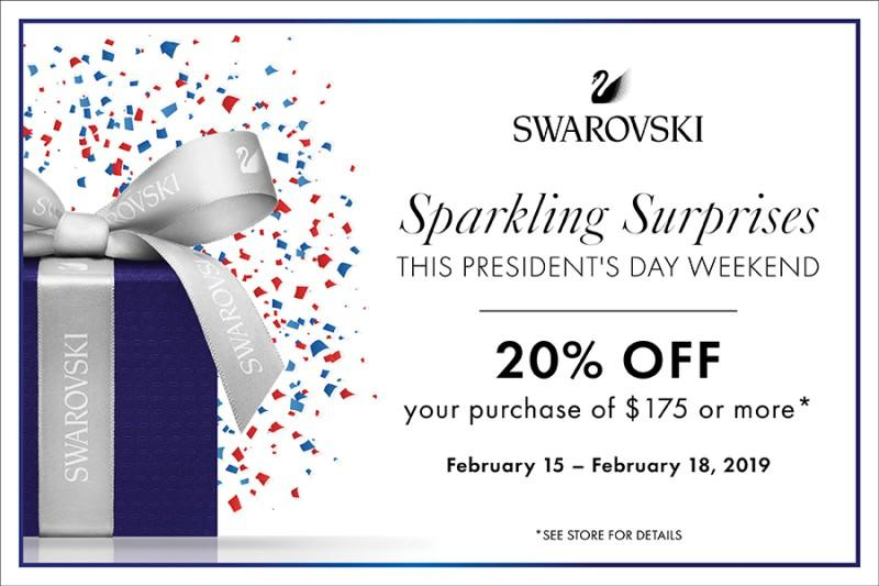 20% your purchase of $175 or more from Swarovski
