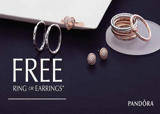 FREE ring or earring pair with PANDORA purchase!