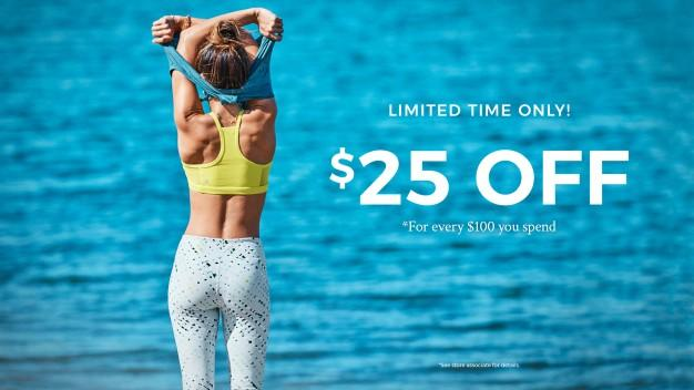 $25 Off every $100 from Fabletics