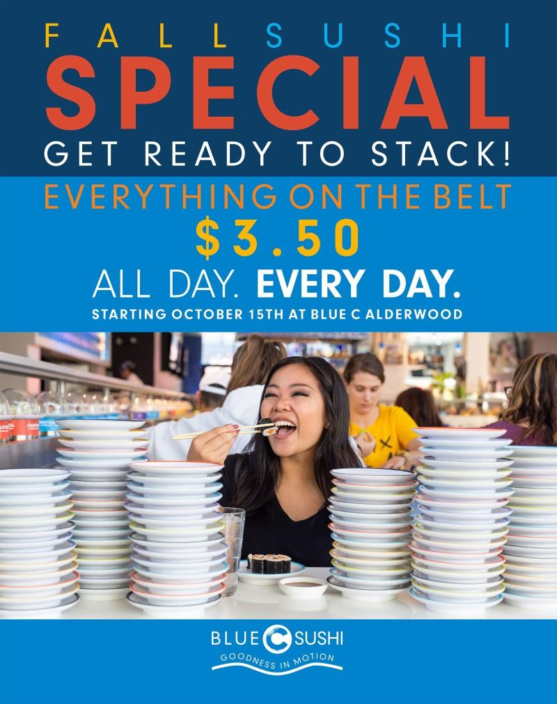 Fall Sushi Special from Blue C Sushi