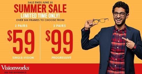 Vision Summer Sale from Visionworks