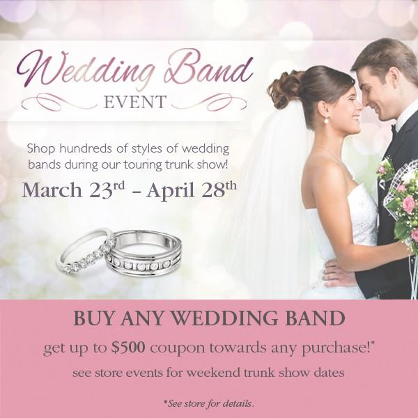Save up to $500 at Michaels Jewelers' Wedding Band Event