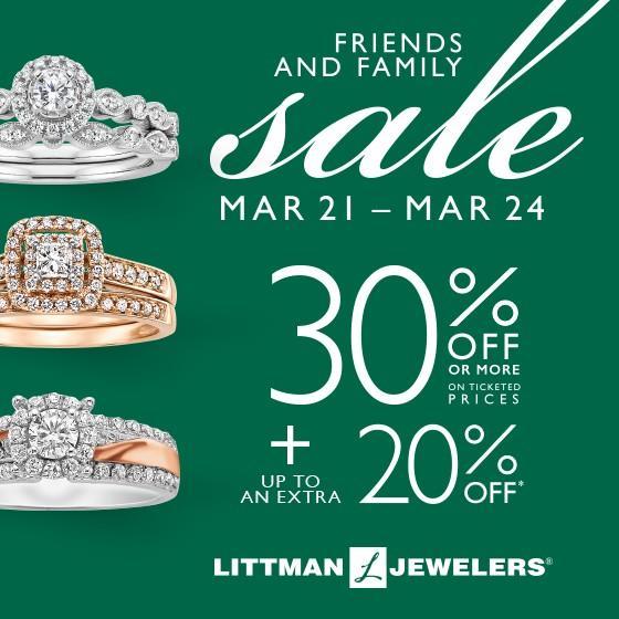 Littman Jewelers Friends and Family Sale from Littman Jewelers