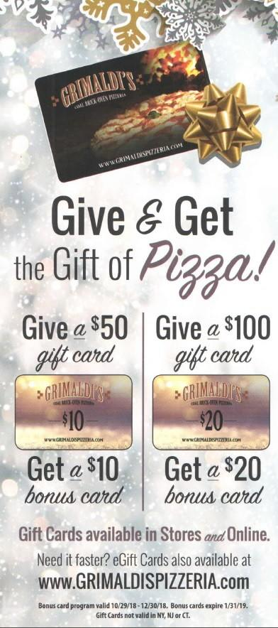 Offer from Grimaldi's Coal Brick Oven Pizzeria