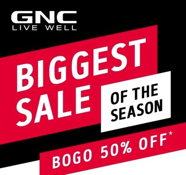 Buy 1 Get 1 50% Off Sports & Performance Supplements! from GNC