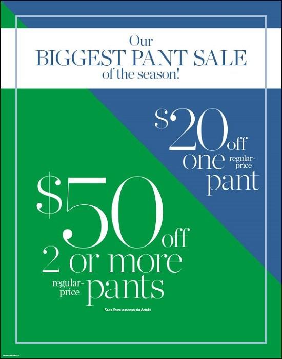 Talbots' Biggest Pant Sale from Talbots