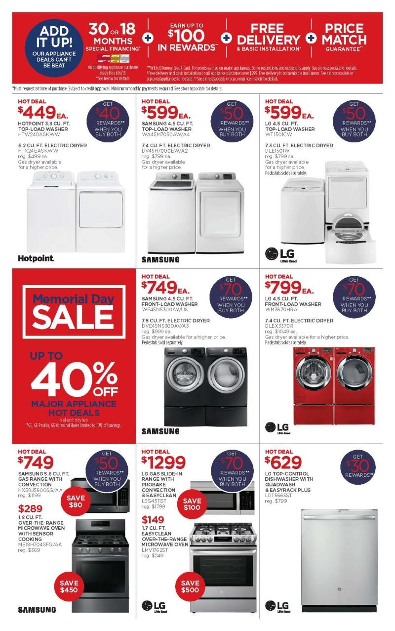 Memorial Day Appliance Sale from JCPenney