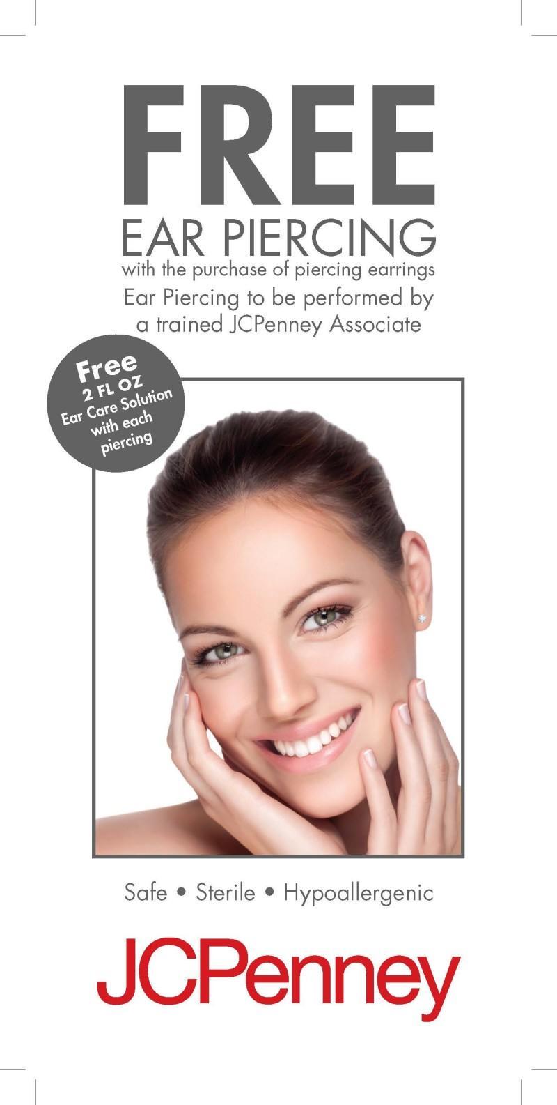 Ear Piercing from JCPenney