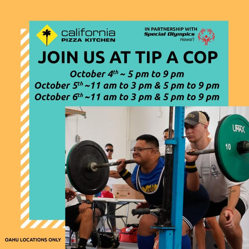 Tip a Cop Event from California Pizza Kitchen