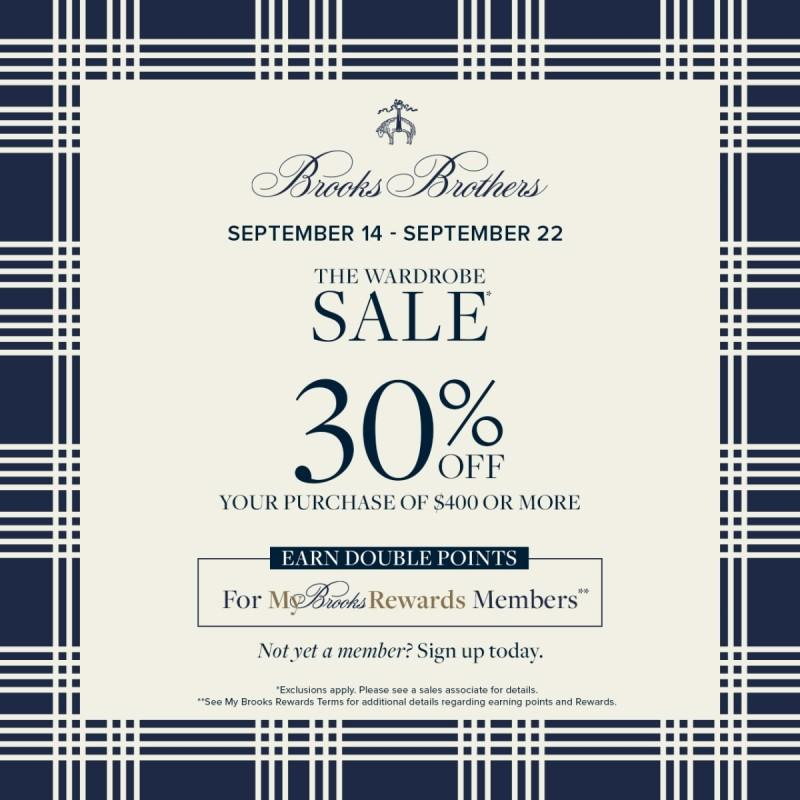 The Wardrobe Sale from Brooks Brothers