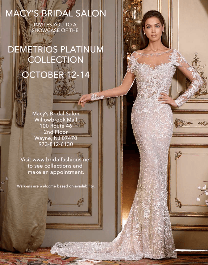 Macy\'s Bridal Salon Invites you to a showcase of the Demetrios ...