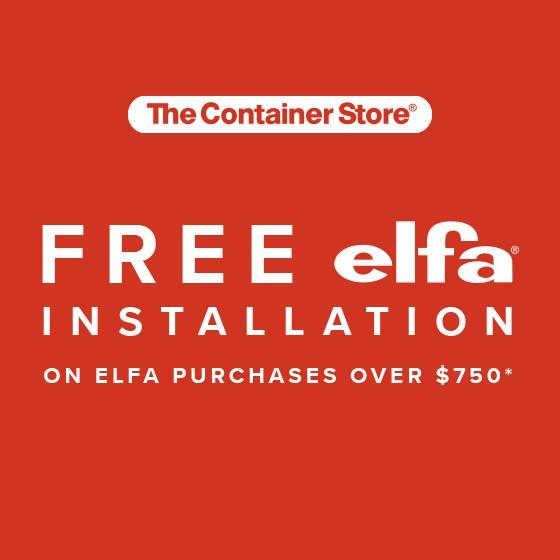 Free Installation during Custom Closet Event from The Container Store