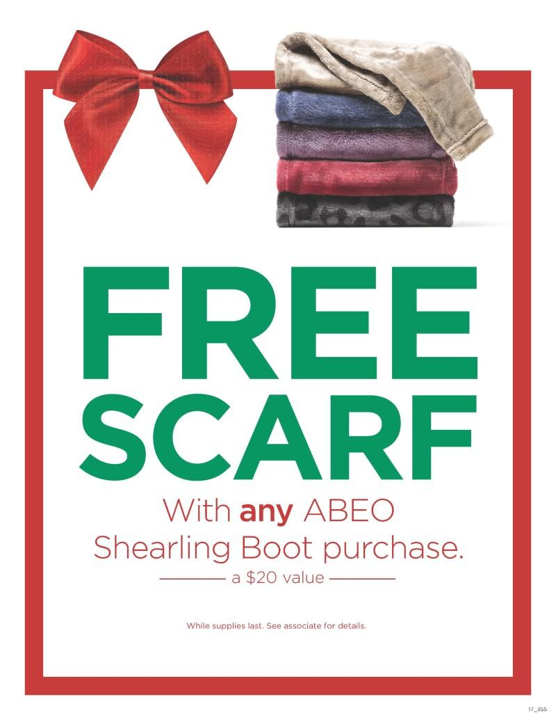 FREE Scarf with ANY ABEO Shearling Boot Purchase