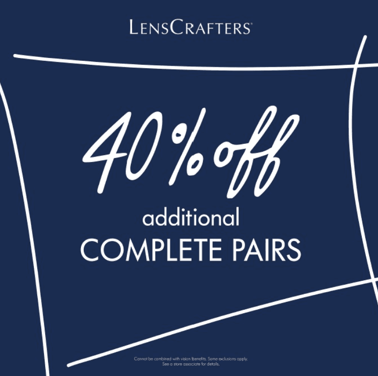 40% Off Additional Complete Pairs