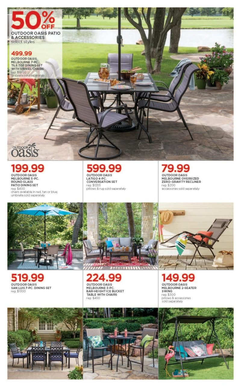 Outdoor Patio specials from JCPenney