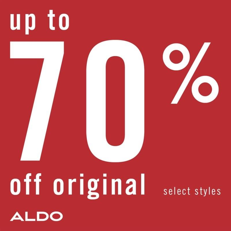 Up to 70% Off on Select Sale Styles.* from ALDO Shoes