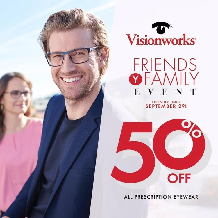 Friends and Family Event from Visionworks