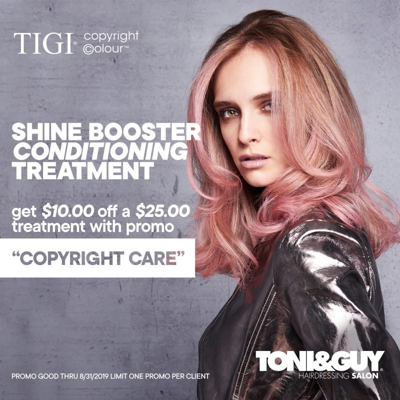 Save $10 off $25 Treatment from Toni & Guy