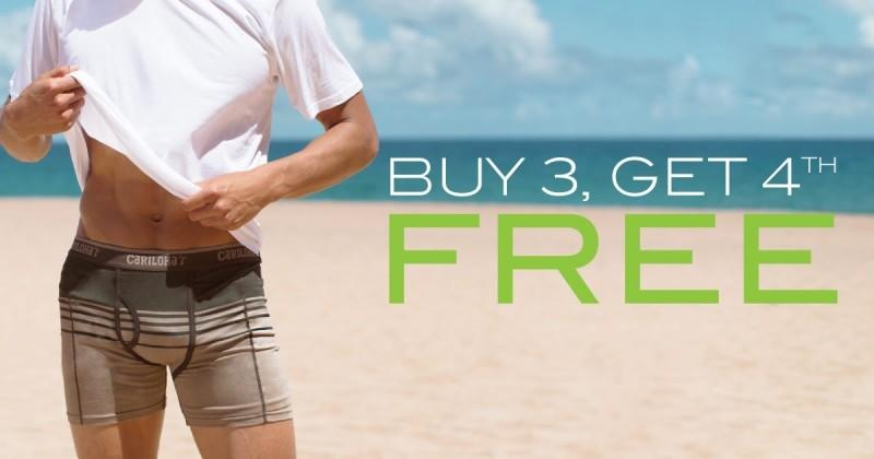 Buy 3 Bamboo Boxers Get 1 Free from Cariloha Bamboo