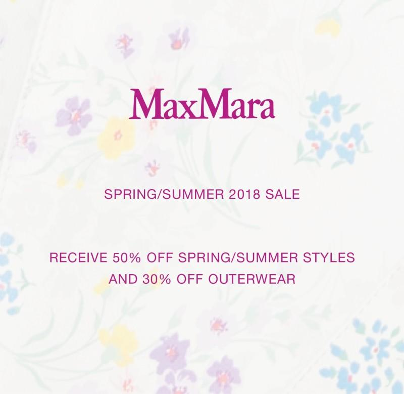 Spring/Summer 2018 Sale from Max Mara