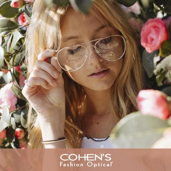 $100 Off DESIGNER EYEGLASSES from Cohen's Fashion Optical