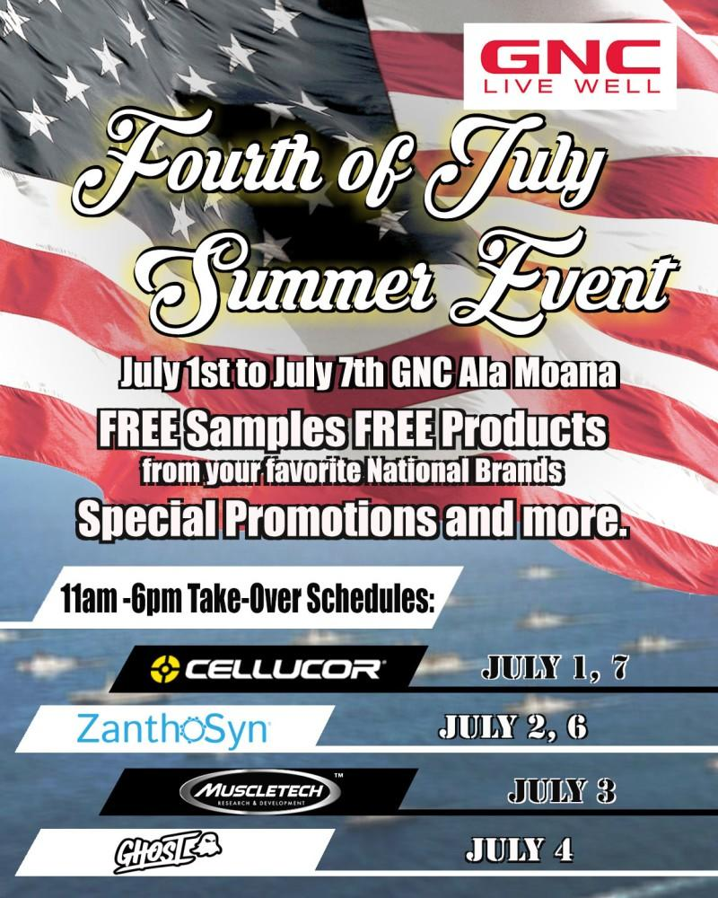 Fourth of July Summer Event from GNC