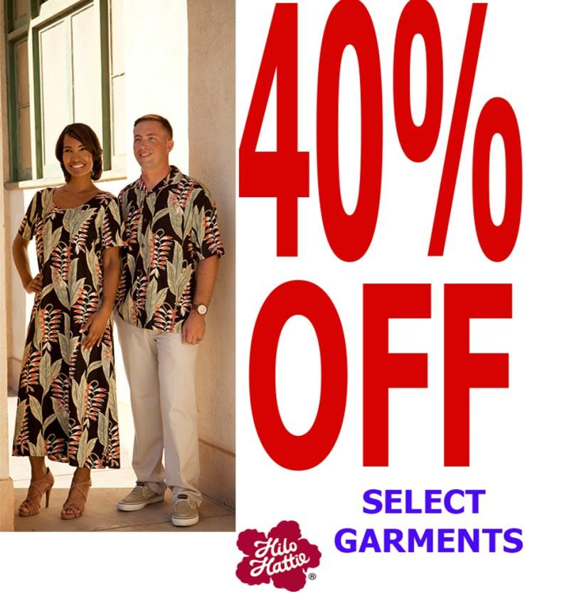 Save 40% off Select Items from Hilo Hattie