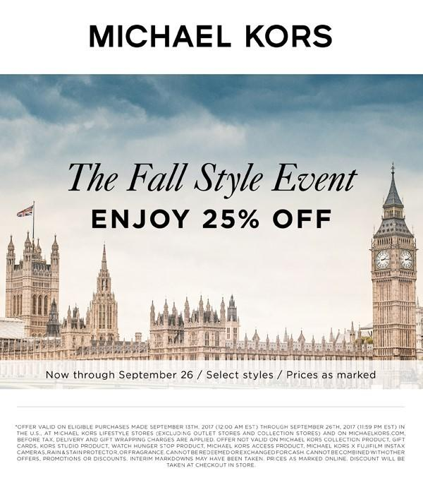 The Fall Style Event Enjoy 25% Off