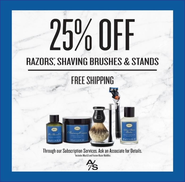 25% OFF from The Art of Shaving