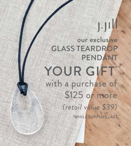 Our exclusive Glass TearDrop Pendant from J.Jill