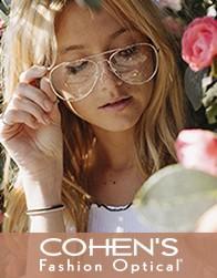 $100 Off DESIGNER EYEGLASSES* FRAME + LENSES from Cohen's Fashion Optical