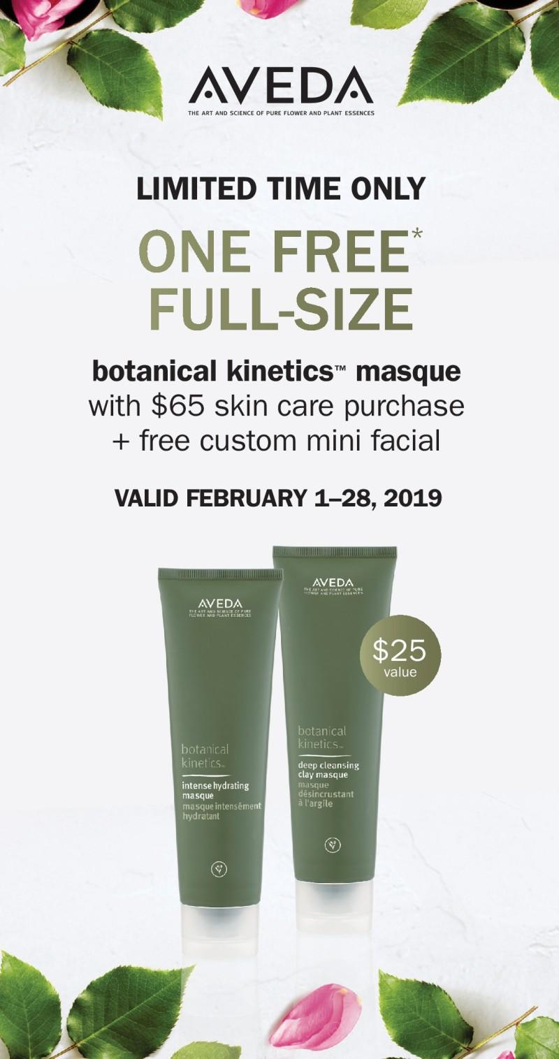 Free full-size with purchase from Aveda