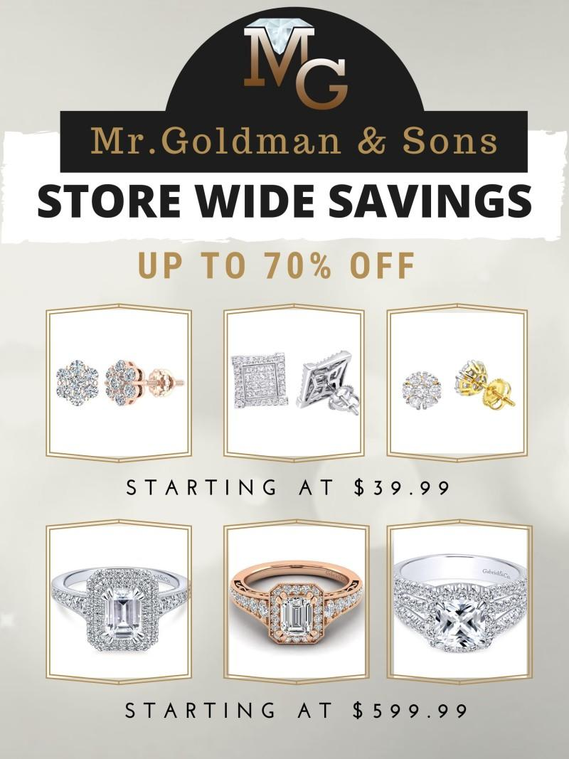 Store Wide Savings from Mr. Goldman And Sons