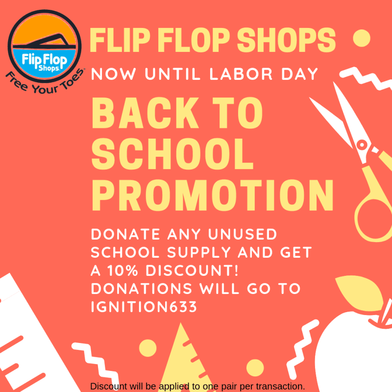 Flip Flop Shops Back To School Promotion from Flip Flop Shops