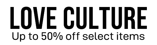 Save up to 50% off select items at Love Culture from Love Culture
