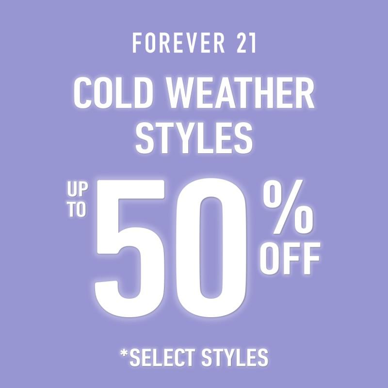 50% Off Cold Weather Styles