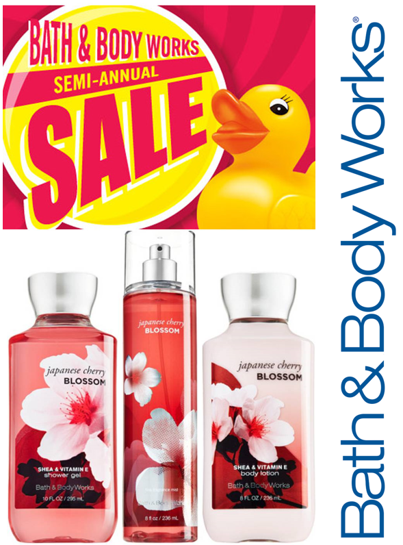 BATH & BODY SALE IS HAPPENING NOW! from Bath & Body Works