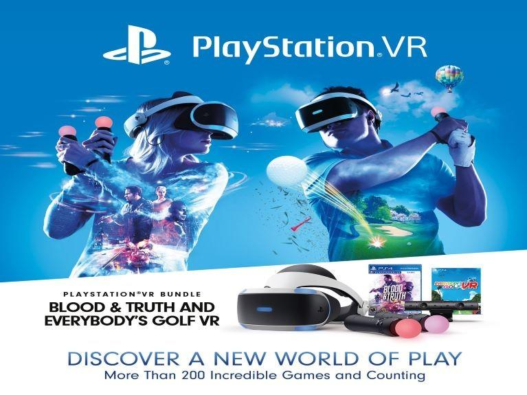 Man and Woman using PlayStation Golf VR toys