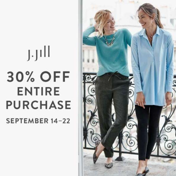 30% Off Entire Purchase!* from J.Jill