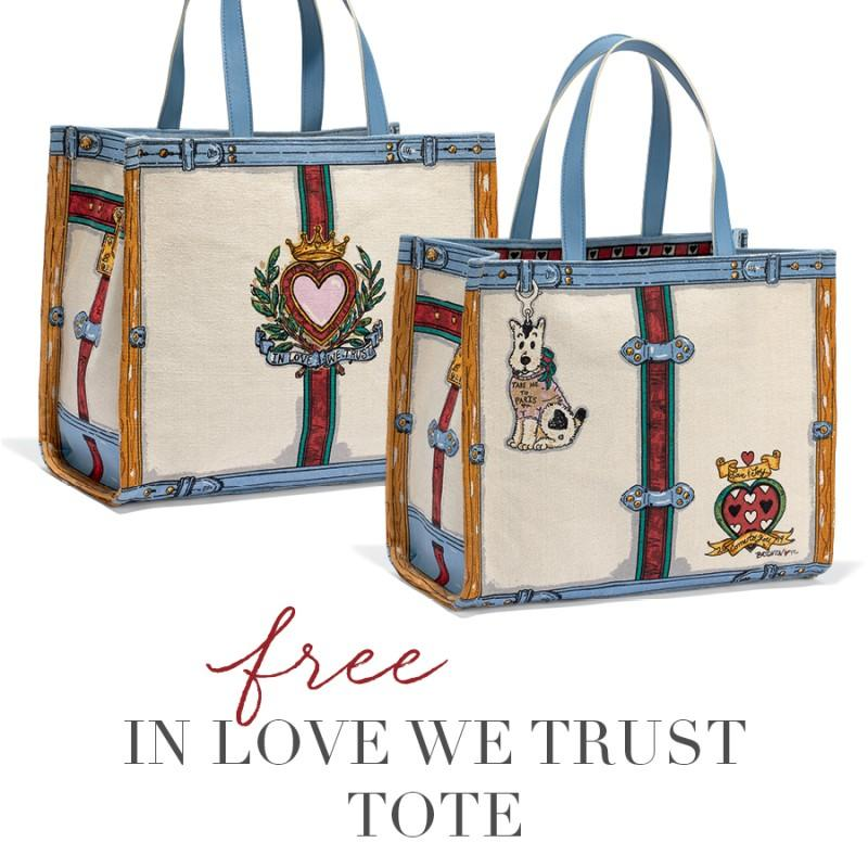 In Love We Trust Tote FREE from Brighton Collectibles