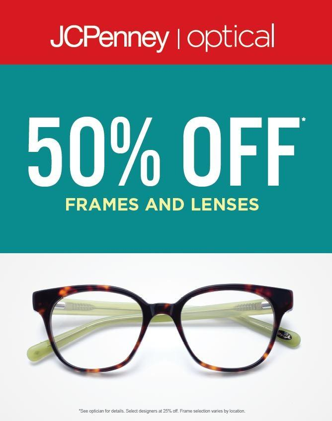 50% Off Frames & Lenses