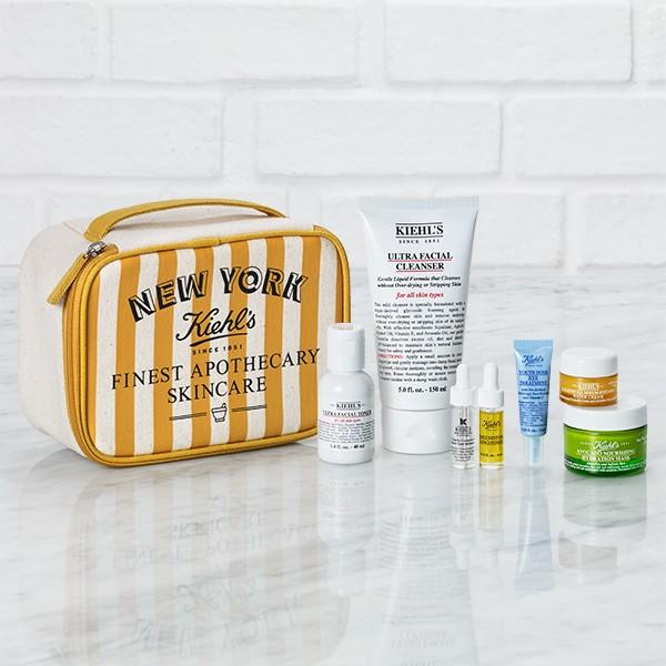 Free Yellow Travel Bag with $115+ Purchases from Kiehl's